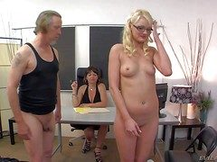 Slender innocent with bated breath pale blonde coddle Zoe Paige with closely-knit