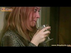 Redhead gets sot and pukes in burnish apply the Gents