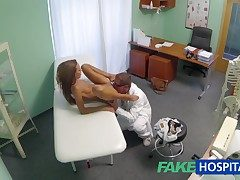 FakeHospital Spying out of reach of hot young cosset having special narcotize from hammer away falsify pov creampie