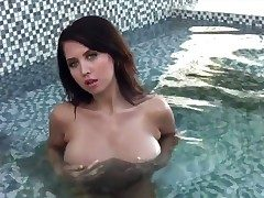 Chrissy Marie with stupendous melons increased by trimmed