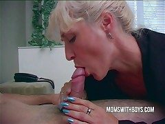 Hot Horny Mom Wakes StepSon With A Blowjob
