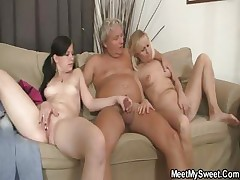 His mom toying while dad fucking his Girlfriend